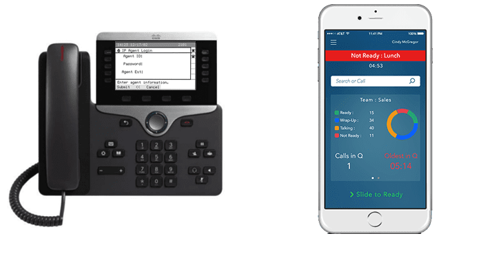 Cisco IP Phone Agent vs Comstice Mobile Agent App